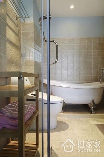 97平温馨地中海三居欣赏卫生间吊顶设计