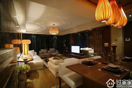 硅藻泥背景墙风格:东南亚风格客厅硅藻泥背景墙效果图