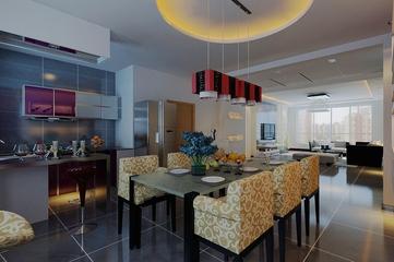 白色现代风两室两厅欣赏餐厅餐桌