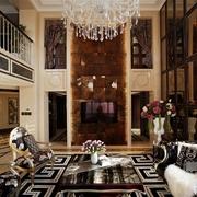 新古典别墅设计客厅电视背景墙