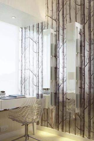 碧海蓝天现代家居欣赏书房背景墙