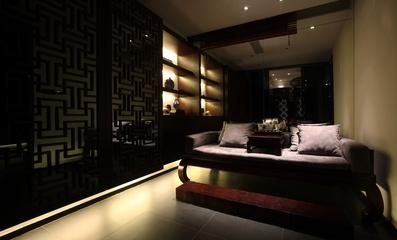 中式风格暗色系休息椅