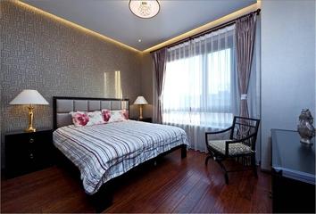 混搭奢华三居室欣赏卧室窗帘