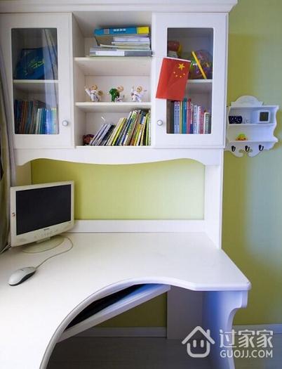 混搭书房书桌架效果图 精致家居生活