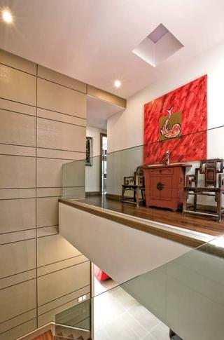 新古典风样板房设计二楼楼道