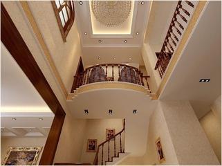 227平欧式质感别墅欣赏楼梯间