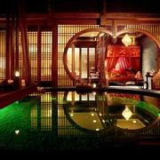中式古典心形隔断