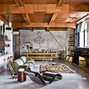 不拘泥现在的复古混搭欣赏客厅全景