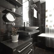 现代风格装修效果图卫生间