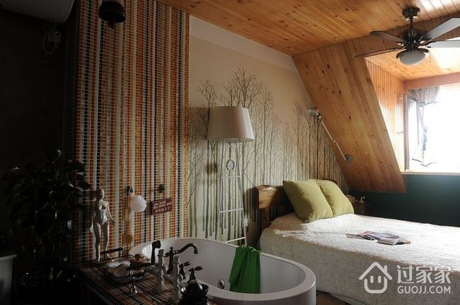 简洁一居室小豪宅欣赏卫生间吊顶