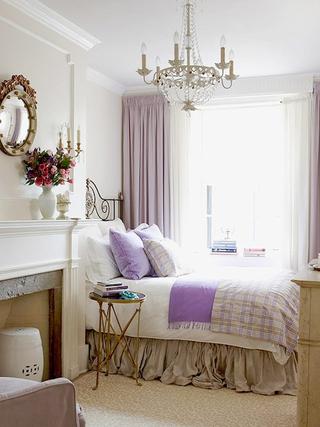简欧紫色风情住宅欣赏卧室