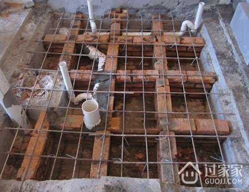 下沉式卫生间回填流程介绍_过家家装修网
