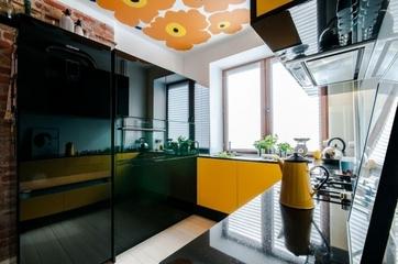 橙色活力一居室欣赏厨房