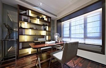 奢华新古典样板房欣赏书房书架