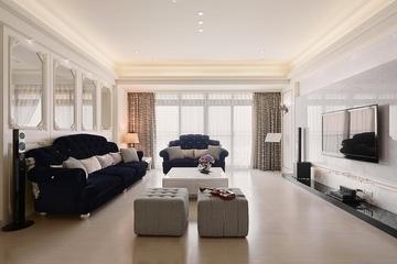 83平优雅现代三居室装修效果图