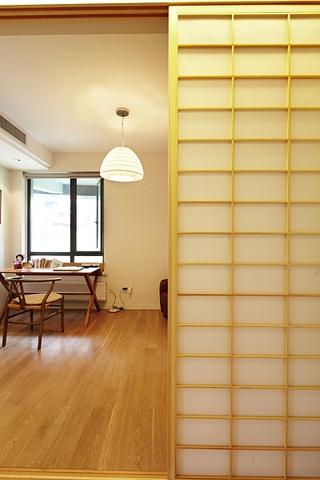 新中式风格质朴三居欣赏书房过道