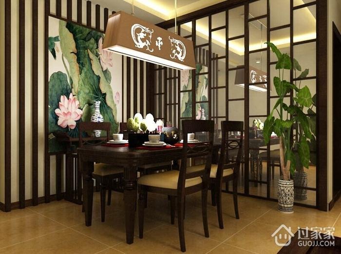 豪华浓郁新中式古典家居餐厅灯饰欣赏