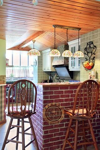 温馨色彩田园两居室欣赏厨房