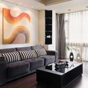 72平简约两室一厅欣赏客厅