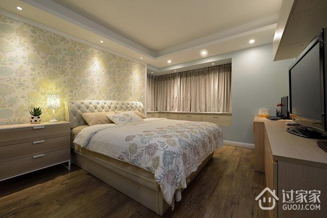135平简约三居室欣赏卧室飘窗