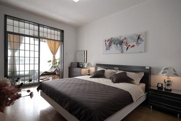 简约舒适两居设计案例欣赏卧室
