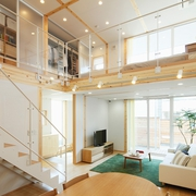 67平日式风格别墅欣赏客厅效果