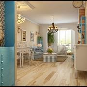 地中海客厅灯饰效果图 蓝白色我的梦