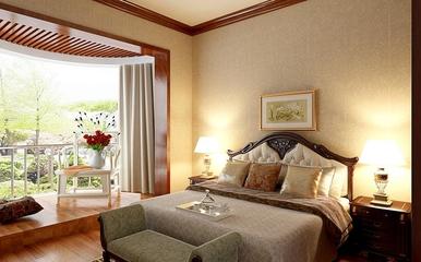 128平新中式大三居欣赏卧室