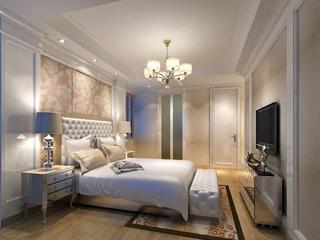 舒适大气的卧室灯饰装修效果图