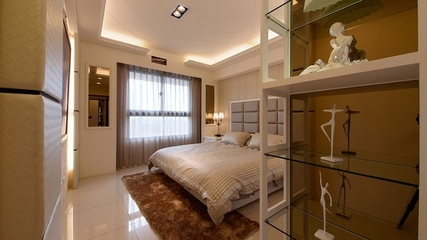98平简约三室两厅欣赏卧室效果图