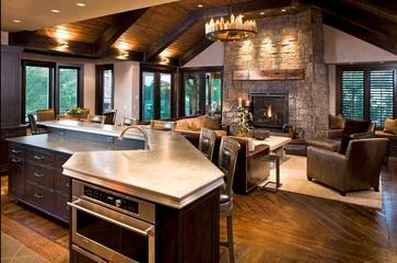美式温馨度假别墅欣赏厨房陈设