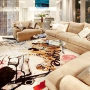 富有异国情调的现代设计欣赏客厅效果