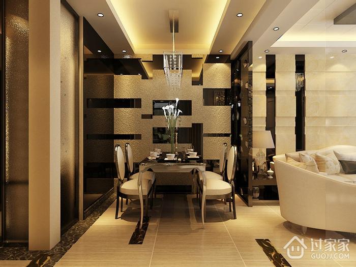 110平新古典三居样板房欣赏餐厅餐桌