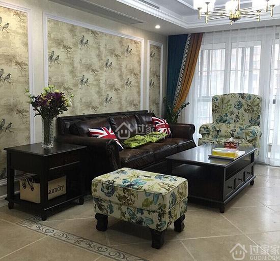 """98平米三室两厅美式风格装修 餐厅的""""假""""飘窗是亮点"""