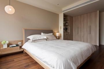 卧室现代创意灯饰效果图 温馨简约