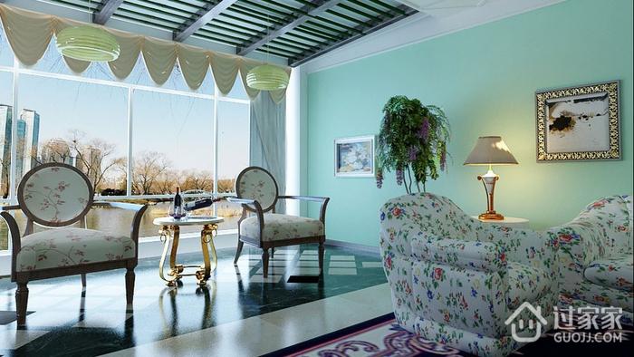 淡雅现代风住宅欣赏阳台窗帘