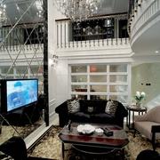 新古典别墅装饰套图客厅背景墙设计