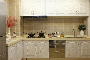 厨房条纹橱柜效果图 大气上档次