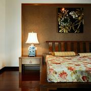 中式风卧室灯具摆放效果图