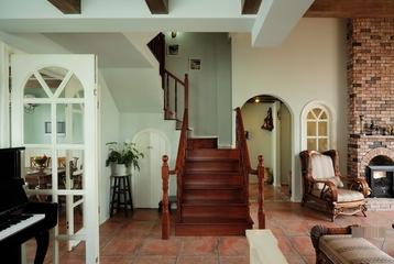 田园风格别墅楼梯
