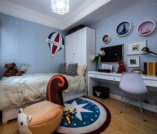 蓝色现代住宅三居欣赏儿童房