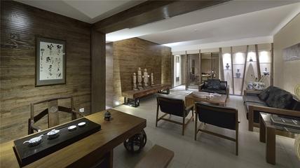 中式风茶室客厅效果图