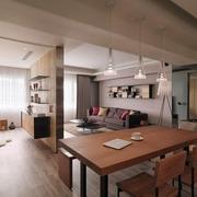 现代风两居室住宅欣赏餐厅