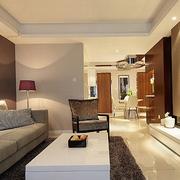 温馨家居 简约风格客厅沙发摆放图片