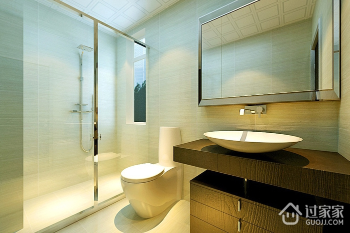 98平新古典两居室欣赏卫生间吊顶