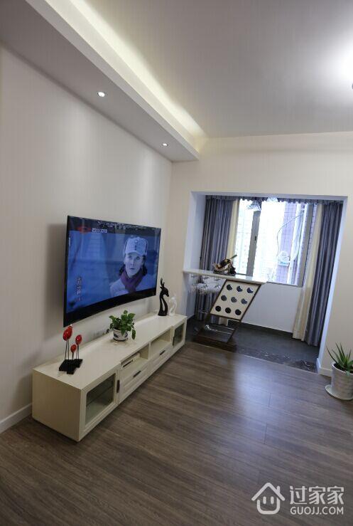 96平米三室两厅简约风格装修 华而不实的软装不如恰到