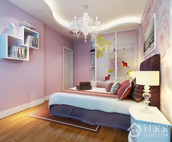 88平简约两居室效果图欣赏卧室效果