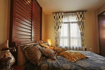 东南亚奢华装修卧室角落