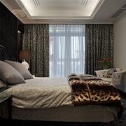 新古典别墅设计卧室落地窗帘