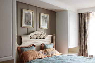 卧室背景墙装修效果图 浪漫简欧风情
